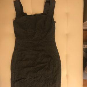ESCADA XS grey wool dress